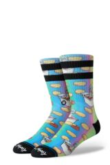 Mens 1 Pair Stance Rick and Morty Dipping Sauce Cotton Socks Leading Image