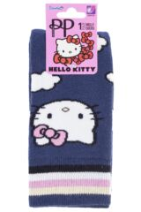 Ladies 1 Pair Pretty Polly Hello Kitty Summer Sky Turn Over Top Welly Socks ILOVESOCKSHOP