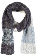 Mens Urban Knit Rugged Cotton Rich Chunky Three Colour Scarf 75% OFF