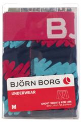 Mens 1 Pack Bjorn Borg Doodle Boxers Shorts In Peacoat 50% OFF