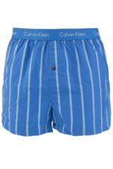 Mens 1 Pair Calvin Klein Woven Slim Fit Striped Boxer Shorts 33% OFF