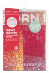 Mens 1 Pack Bjorn Borg Therapy Paint Splash Cotton Boxer Shorts In Geranium 75% OFF