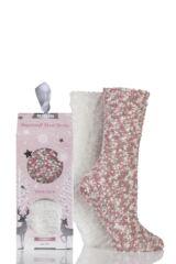 Ladies 2 Pair Totes Popcorn and Eyelash Super Soft Bed Socks
