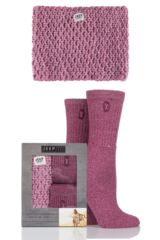 Ladies Jeep Spirit Chunky Knit Snood Scarf and 2 Pairs of Twisted Yarn Socks Gift Box
