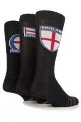Mens 3 Pair England Flag Design Socks 33% OFF