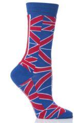 Ladies 1 Pair SockShop Union Jack Ankle Socks
