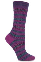 Ladies 1 Pair Falke Norwegian Cashmere Blend Fair Isle Socks In 5 Colours