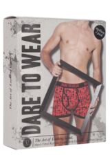 Mens 2 Pack Dare to Wear Fitted Keyhole Trunks with Exclusive Raindrops Art Design 25% OFF This Style Packaging Image