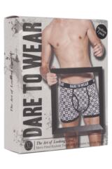 Mens 2 Pack Dare to Wear Fitted Keyhole Trunks with Exclusive DTW Art Design 25% OFF This Style Product Shot