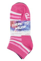 Ladies 6 Pair SOCKSHOP Dare to Wear Patterned Trainer Socks Packaging Image