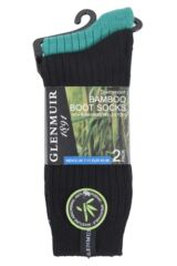 Mens 2 Pair Glenmuir Lightweight Ribbed Bamboo Boot Socks Packaging Image