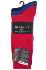 Mens 3 Pair Glenmuir Classic Bamboo Plain Socks Packaging Image