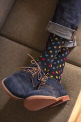 Mens 3 Pair Glenmuir Dots and Stripes Bamboo Socks Leading Image