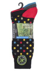 Mens 3 Pair Glenmuir Dots and Stripes Bamboo Socks Packaging Image
