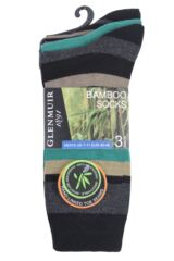 Mens 3 Pair Glenmuir Multi Stripe Bamboo Socks Packaging Image