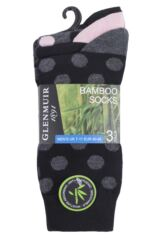 Mens 3 Pair Glenmuir Spotted Bamboo Socks Packaging Image