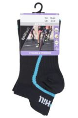 UpHill Sport 1 Pair 3 Layer Low Cut Spinning Bike Trainer Socks Packaging Image