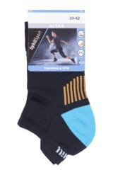 "Mens and Ladies 1 Pair UpHill Sport ""Trail"" Low Running L1 Socks Packaging Image"