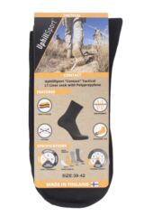 "Mens and Ladies 1 Pair UpHill Sport ""Contact"" Tactical L1 liner Socks Packaging Image"