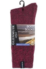 Mens 2 Pair Glenmuir Cotton Marl Cushioned Boot Socks Packaging Image