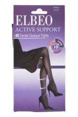 Ladies 1 Pair Elbeo Caresse Active Firm Support 40 Denier Opaque Tights Packaging Image