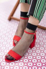Ladies 2 Pair Elle Classic Fishnet Anklet Socks Leading Image