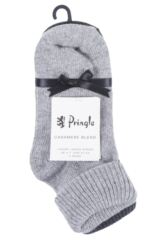 Ladies 2 Pair Pringle Cashmere Blend Luxury Roll Over Socks Packaging Image