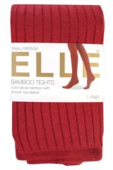 Ladies 1 Pair Elle Ribbed Bamboo Tights Packaging Image