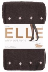 Ladies 1 Pair Elle Pattern Warm and Soft Winter Tights Packaging Image