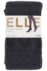 Ladies 1 Pair Elle Winter Soft Fair Isle Patterned Tights Packaging Image