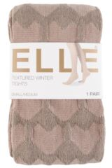 Ladies 1 Pair Elle Winter Soft Heart Patterned Tights Packaging Image