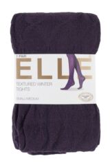 Ladies 1 Pair Elle Diamond Tile Patterned Tights Packaging Image