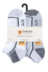 Mens 6 Pair Farah Cushioned Trainer Socks Packaging Image