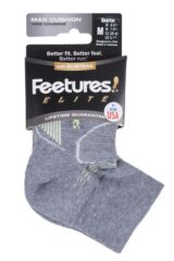 Feetures 1 Pair Elite Max Cushion Quarter Socks Packaging Image