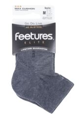 Mens and Ladies 1 Pair Feetures Elite Max Cushion Quarter Socks Packaging Image