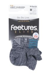 Mens and Ladies 1 Pair Feetures Elite Light Cushioned Running Socks Packaging Image