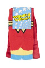 Ladies 1 Pair DC Comics Wonder Woman Cape Socks Packaging Image