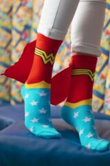 Ladies 1 Pair DC Comics Wonder Woman Cape Socks Leading Image