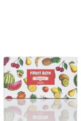 Ladies 4 Pair Moustard Fruit Design Socks In Gift Box Product Shot