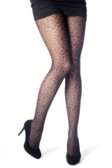 Ladies 1 Pair Elle Leopard Spot Tights