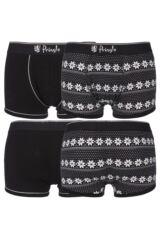 Mens 2 Pack Pringle Gift Boxed Plain and Fair Isle Boxer Shorts