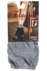 Ladies 1 Pair Trasparenze Gesso Slouch Top Cotton Socks Product Shot