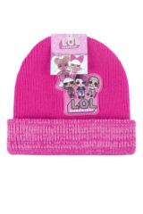 Girls 1 Pack SOCKSHOP L.O.L. Surprise! Knitted Double Layered Hat Packaging Image