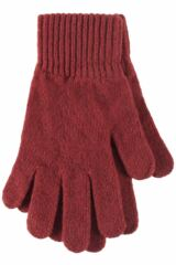 Ladies 1 Pair Great & British Knitwear Made In Scotland 100% Cashmere Plain Gloves In Orange