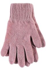 Ladies 1 Pair SockShop of London Made In Scotland 100% Cashmere Plain Gloves In Pink