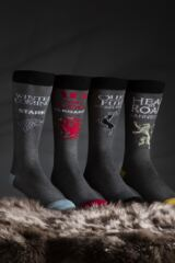 SockShop 4 Pair Game of Thrones Houses Targaryen, Stark, Lannister and Baratheon Socks Leading Image