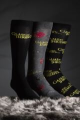 SOCKSHOP 3 Pair Game of Thrones Logo Cotton Socks Leading Image