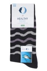 Mens and Ladies 1 Pair Healthy Seas Organic Cotton Socks Packaging Image