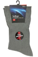 Mens 1 Pair HJ Hall Extra Wide Cotton Softop Socks Packaging Image