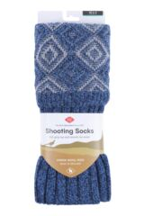 Mens 1 Pair HJ Hall UK Made Duncliffe Wool Shooting Knee High Socks Packaging Image
